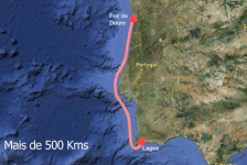 Francisco Lufinha bate el récord de distancia en kitesurf